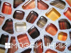Технология укладки стеклянной мозаики