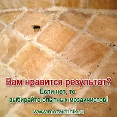 На такую укладку мозаики только мухи слетаются.