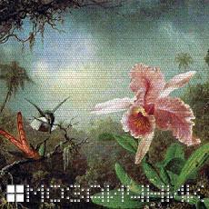 Мозаичное панно из витражного стекла