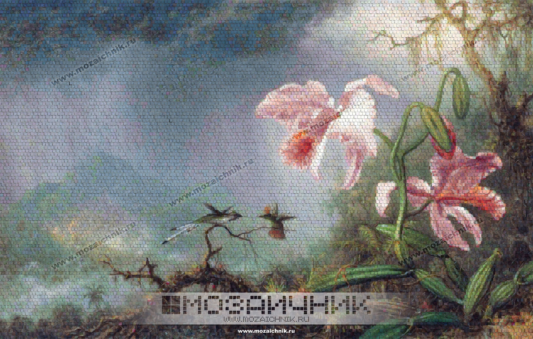 Микс стеклянная мозаика