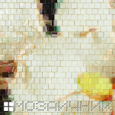 Мозаичное панно из витражного стекла магнолия