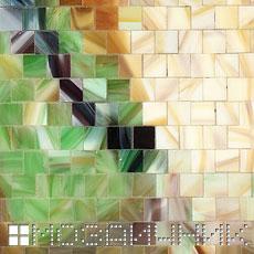 Мозаичное панно из витражного стекла лошадь