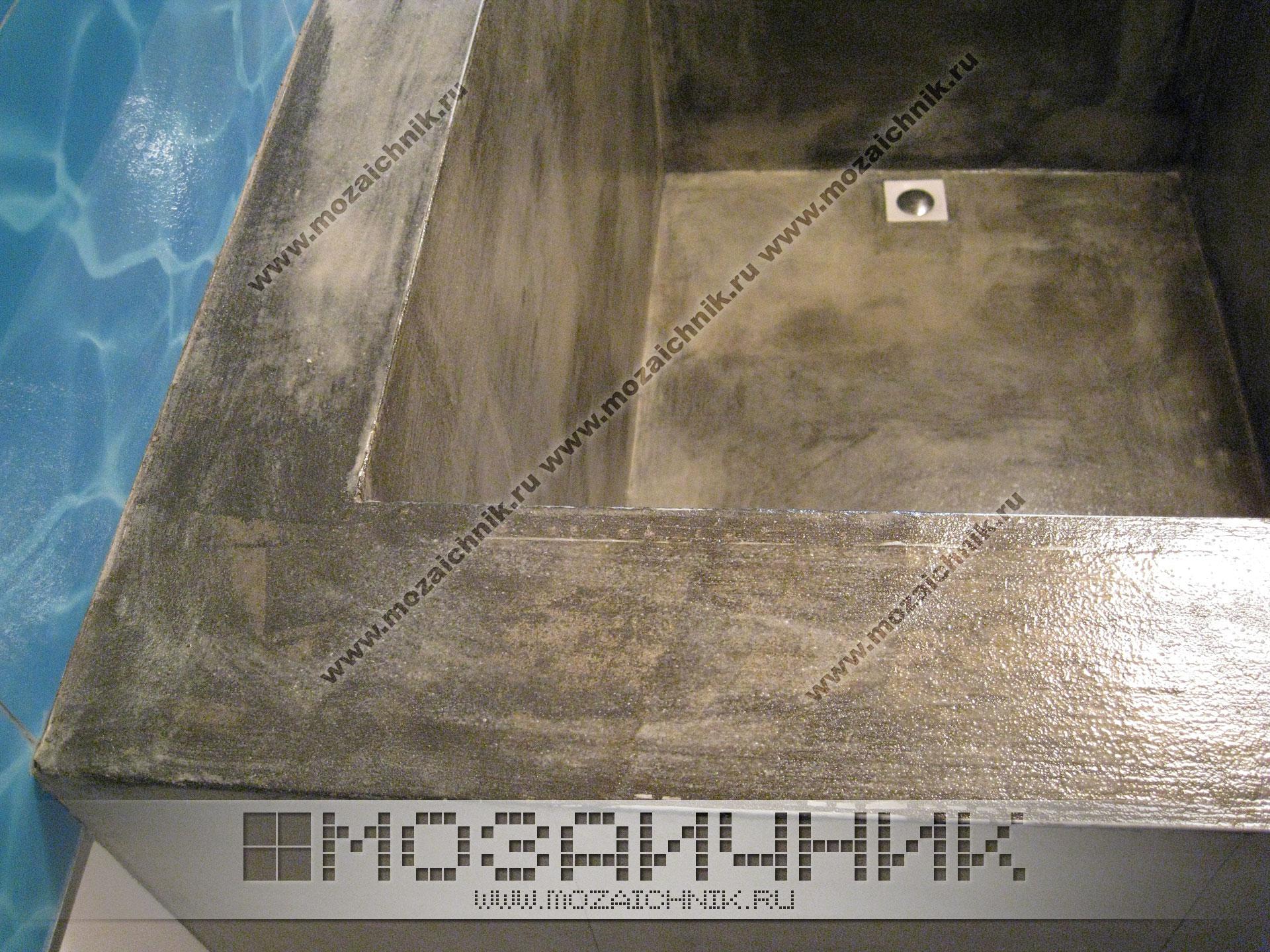 Отделка уличного бассейна