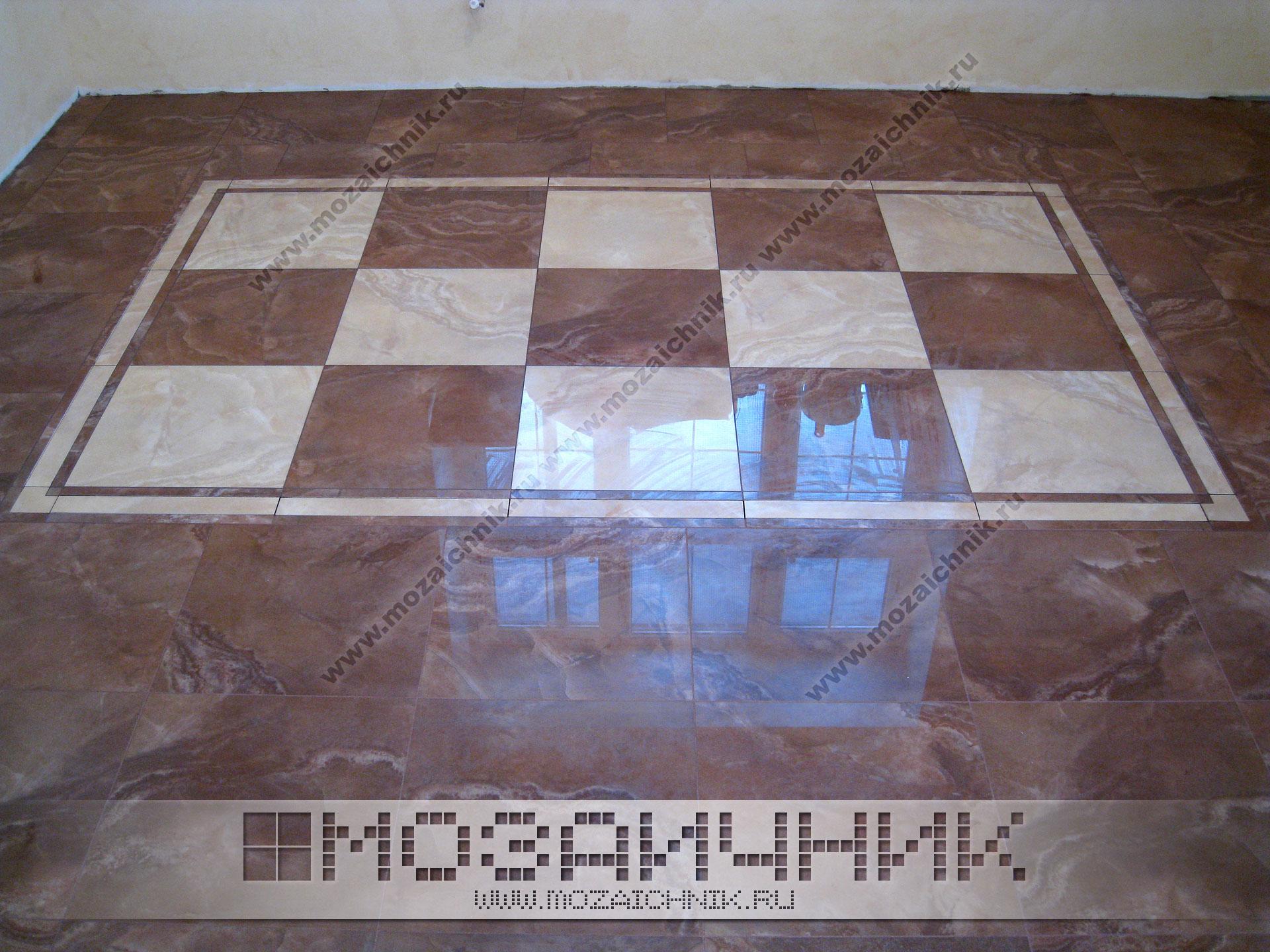 Плитка-мозаика напольная
