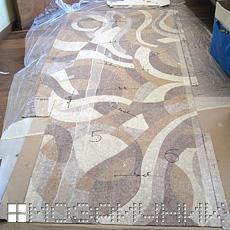 Распаковка мозаичного панно BISAZZA фото