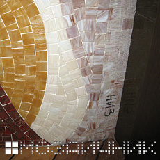 Нижний добор из мозаики фото