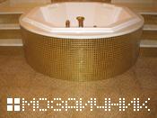 золотая затирка мозаика