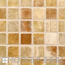 Мозаика из оникса затерта белой затиркой фото