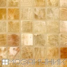 Мозаика из оникса затерта стеклянной затиркой фото