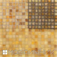 мозаика из оникса с затиркой и подсветкой фото
