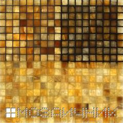 Мозаика из оникса с подсветкой, прозрачная затирка просвечивается фото