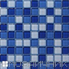 синяя мозаика с голубой затиркой фото