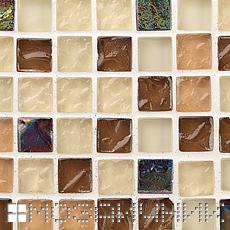 Мозаика затерта кристально белой стеклянной затиркой фото