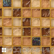 Мозаика затерта золотой затиркой фото