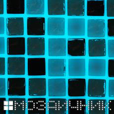 Мозаика затерета прозрачной затиркой с фотолюминесцентной добавкой фото