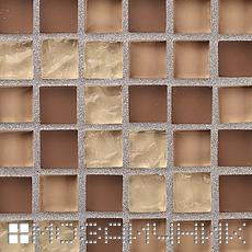 Мозаика затерта металлической затиркой фото