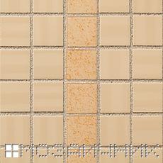 Керамическая мозаика FAP, кремовая эпоксидная затирка с крупной фракцией фото