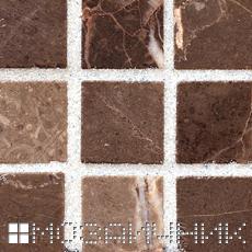 Белая эпоксидная затирка осветляет мраморную мозаику фото