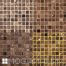 Мраморная мозаика затертая разными цветами эпоксидной и стеклянной затирки фото