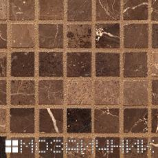 Коричневая эпоксидная затирка для мраморной мозаики фото