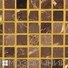 Золотая эпоксидная затирка для мраморной мозаики фото