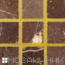 Обычными цементными затирками нельзя затирать мрамор - мрамор окрашивается фото