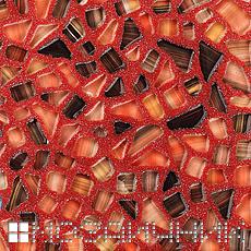 Красная эпоксидная затирка может служить ярким пятном в красочном интерьере фото