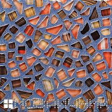 Голубые тона затирки хорошо подойдут для отделки стеклянной мозаикой раковин или душевых кабин фото