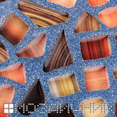 Голубая эпоксидная затирка с перламутром фото