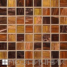 Светло коричневая затирка сливается сливается с коричневой мозаикой фото
