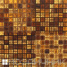 Стеклянная мозаика с включенной подсветкой без естественного освещения фото