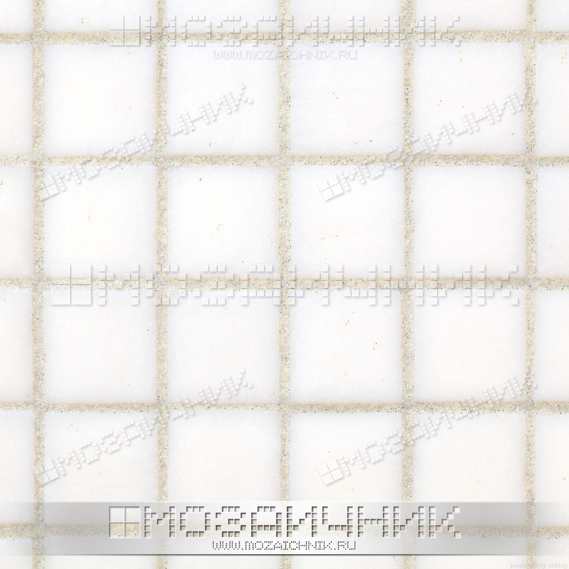 Плитка-мозаика белая