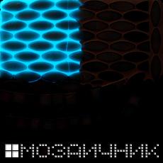 Свечение фотолюминесцентной добавки в темноте фото
