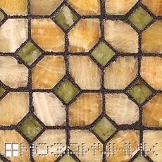 Мозаика из оникса затерта черной эпоксидной затиркой с серебром фото