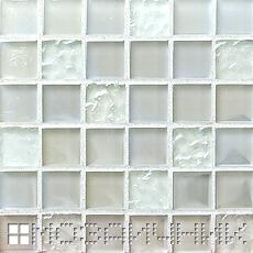 Белая затирка осветляет мозаику фото