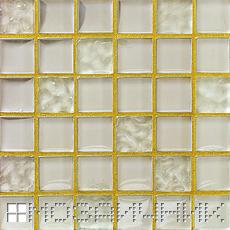 Мозаика из оникса затерта прозрачной затиркой фото