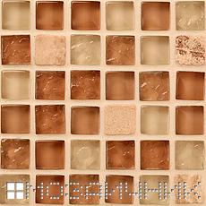 Мозаика затерта прозрачной затиркой, заколерованной в бежевый цвет фото