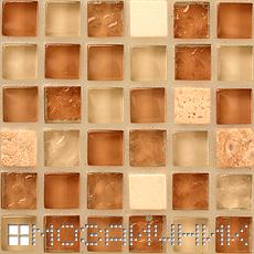 Затирка не впитывает цвет стеклянная мозаика с окрашенной подложкой фото