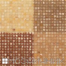 Мозаика из оникса Подсветка сзади мозаики и свет сверху фото