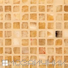Мозаика из оникса затерта светло бежевой затиркой фото