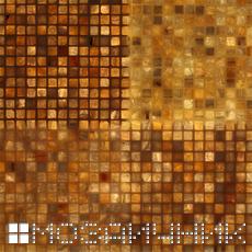 Мозаика из оникса с внутренней подсветкой, прозрачная затирка просвечивается фото