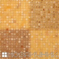 Мозаика сфотографирована, подсветка сзади мозаики и свет сверху