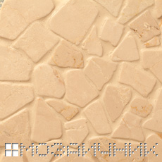 Эпоксидная затирка сливается с каменной мозаикой фото