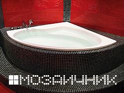 Укладка мозаики в ванной комнате
